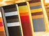 様々な色の革見本